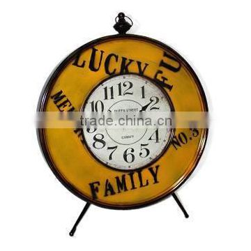 Lucky family large round table clock Gift