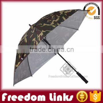 8K Large Double Layer Wind Proof Straight Golf Umbrella