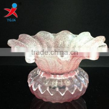 Manufacturers wholesale Floriated droplight glass lampshade/creative desk lamp transparent glass lamp shade/light fittings chimn