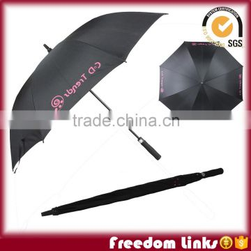 Black Golf Umbrella With Customize Logo