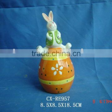 dolomite rabbit on egg deco