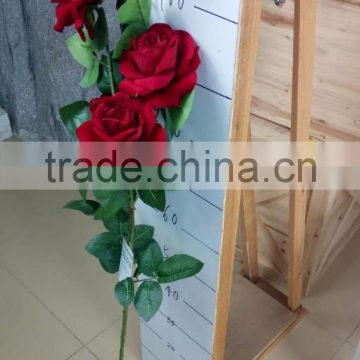 artificial single red rose in factory price good quality