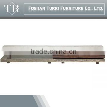 Luxury Long Wooden TV stand with luxury marble top