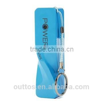 1500mah Promotional Twitch Shape Perfume Power Bank with key chain