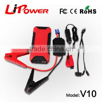 Lipower 600A Peak 12000mAh Portable Car Jump Starter V10 Battery Charger Phone Power Bank (Black/Red)