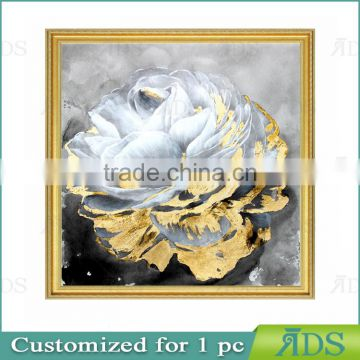 Handpainted Modern Floral Fabric Oil Painting