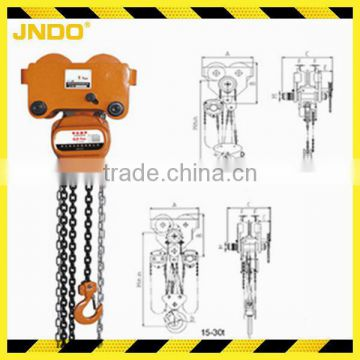 combined manual hand series lifting chain hoist block