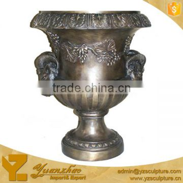 brass flower pot for garden decoration