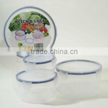 4pcs round plastic kitchen food storage container set