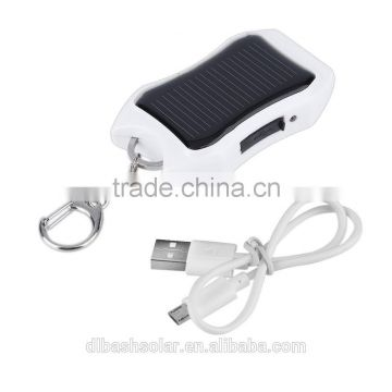 1200Mah Mini USB solar powerbank solar blinking keychain with keychain with lighter