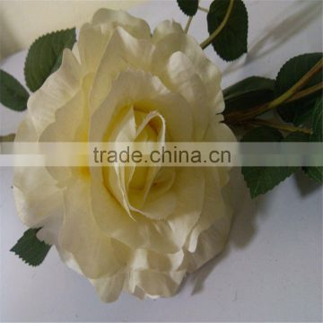 SJ20170002 yellow artificial silk flower rose bud