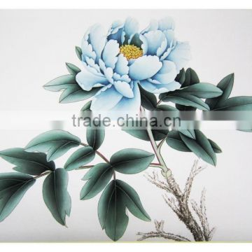 Handmade beautiful flower designs fabric painting for Wall scenery Decorations