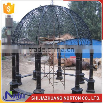 Simple design four pillars square gazebo iron garden NTIG-304A