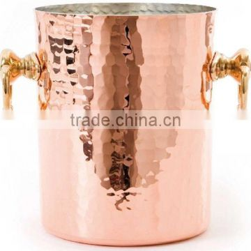 copper plated hammerred wine buckets