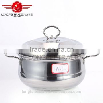 High quality 4pcs stainless steel Color european-style soup pot set