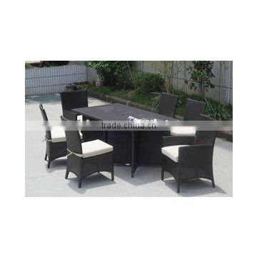 Modern Rattan Dining Set Patio Personal