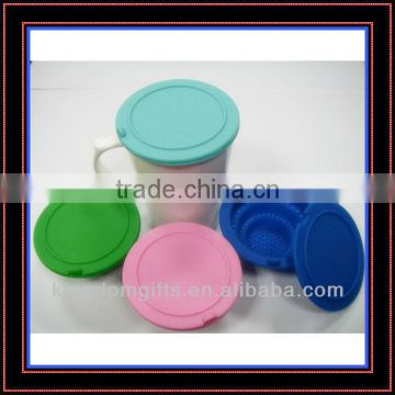 Filtering Tea Leaves Silicone Cup Lids