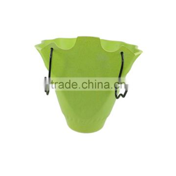 Degradable Welcome bamboo fiber /rice hull hanging flowerpot
