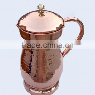 LATEST 100% SOLID COPPER WATER PITCHER, HAMMERED COPPER WATER POT, INDIAN MANUFACTURER OF 100% COPPER WATER JUG