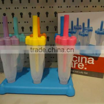 Rocket popsicle mould and ice lolly set