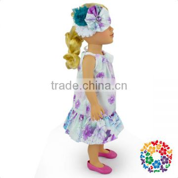 Wholesale Stylish 18 Inch Doll Clothes Tiny Cute Baby Doll Dress New Design For 18 Doll Clothes Pattern