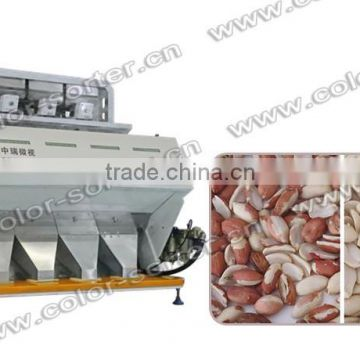 High production ccd color sorter for kernel peanut with low damage rate