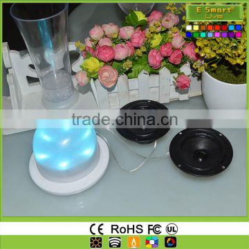 Direct Charge LED lamp base illuminated light source,LED light source Lamp Base,multi color round led light base