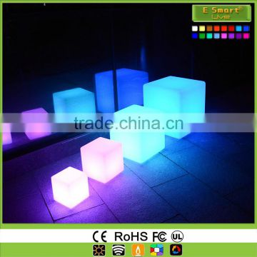 outdoor led cube chair light