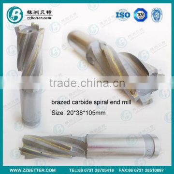 High quality Brazed Carbide End Mill in 4 flutes
