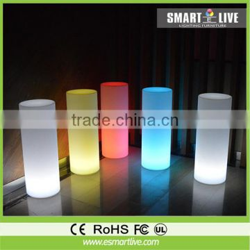 Small Color Changing Led Glow Cylinder Flashing Small Cylinder Light