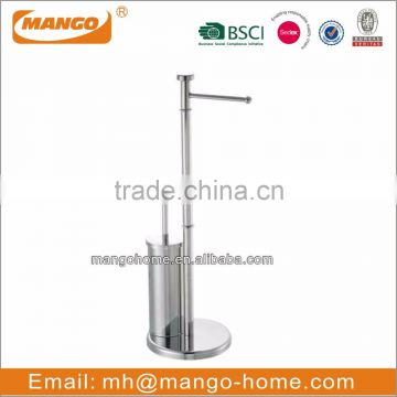 Stainless Steel Toilet Brush and free standing toilet paper holder