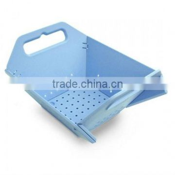 Plastic Folding vegetable Colander with handle