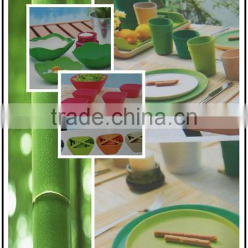 Best sale Cheap Eco-friendly Bamboo fiber Dinner Set