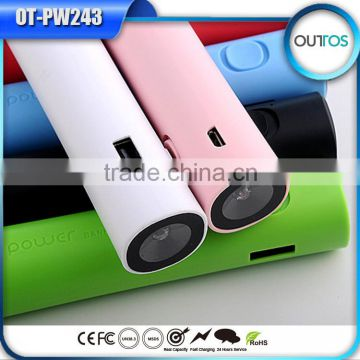 Free custom logo multi color portable USB power bank for gift