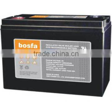deep cycle battery 6v220ah regulated lead acid rechargable battery 6v 225ah