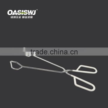 wire iron food tong/bbq tools/stainless food tong