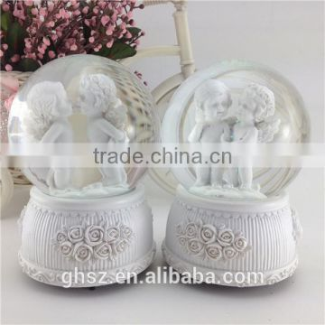 new products resin angel baby crystal ball with light