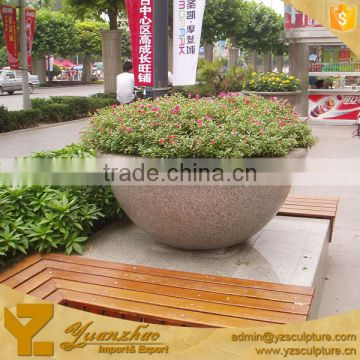 Decorative carved flowers garden marble flower pot