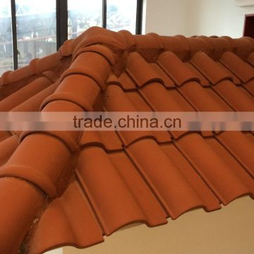 High quality terracotta roofing tile, Roman style interlocking bent clay roofing tile