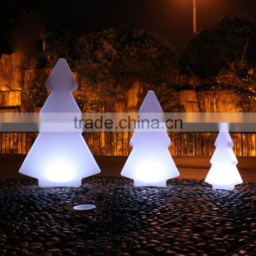 outdoor led glow christmas tree shaped light
