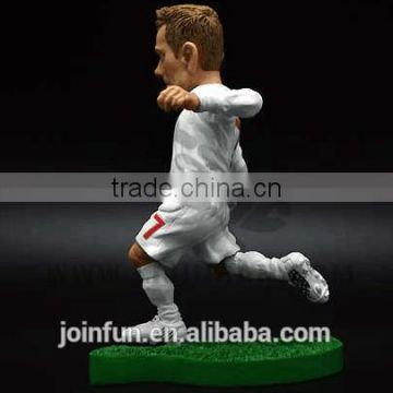 plastic football action figures,plastic world cup action figure,beckhem PVC action figure