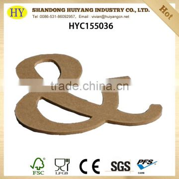 custom size natural cheap MDF letter wholesale