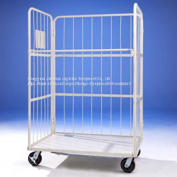 Heavy Duty Folding Roll Cage Container Warehouse Roll Container