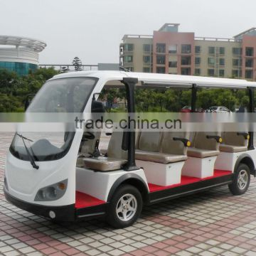 Comfortable sightseeing golf course battery powered mini shuttle bus