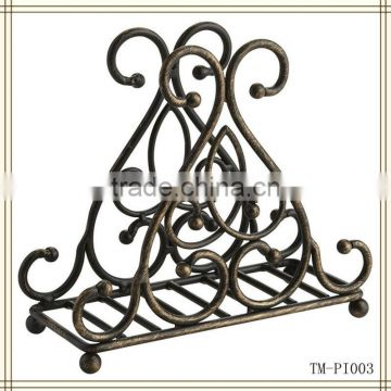 Bronze Scroll antique napkin holder