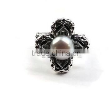 925 Sterling Silver Gemstone Pearl Ring