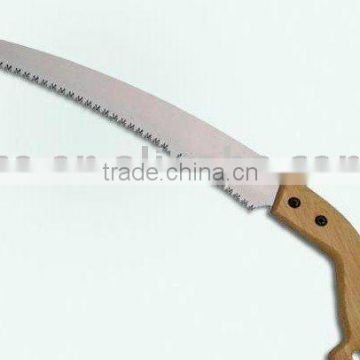 WOODEN HANDLE CURVE TREE PULL PRUNING GARDEN SAW