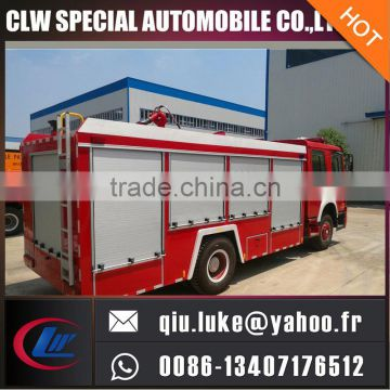 5000Liters water tank fire truck, bid type fire fighting truck for philippines