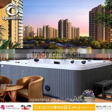 Luxury CE approval outdoor 8 to 12 persons Whirlpool massage balboa acrylic jazz spa