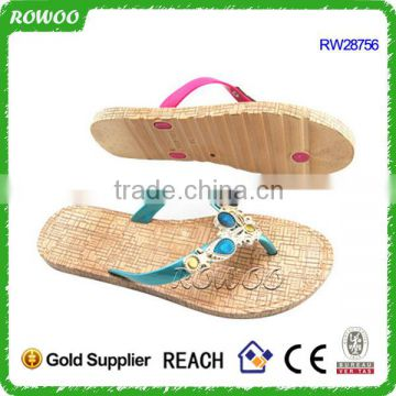 Good quality flat PVC lady chappal slipper